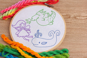 Free Embroidery Pattern Fantasy Creatures
