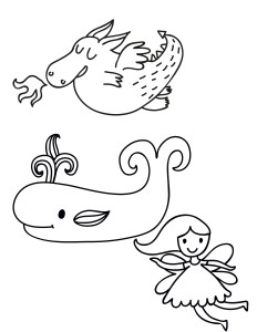 Free Embroidery Pattern Fantasy Creatures Printable