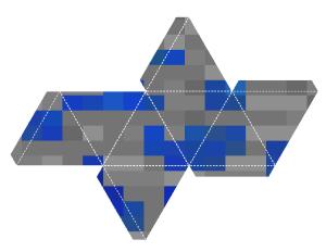 Free Printable Minecraft Ornament - Lapis Lazuli