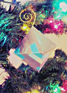 Free Printable Minecraft Ornament - Diamond