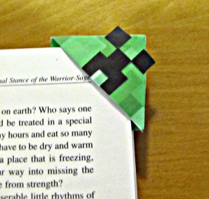 Minecraft Creeper Corner Bookmark