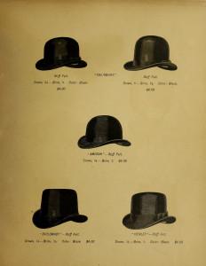 Vintage Men's Hat Advertisement