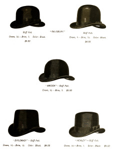 Vintage Men's Hat Advertisement