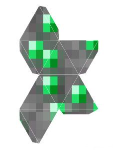 Printable Minecraft Emerald Ornament