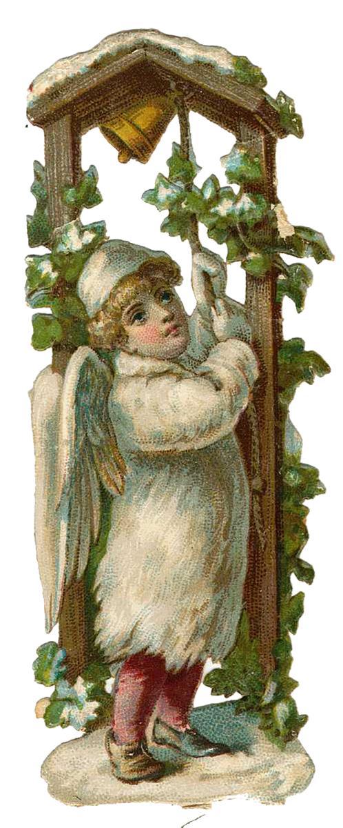 Vintage Victorian Christmas Die Cut Clip Art Day 15 The