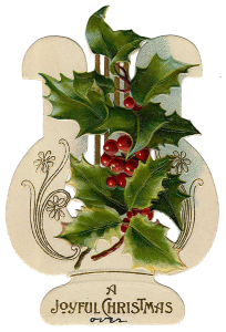 Vintage Victorian Christmas Die Cut Clip Art Day Eight