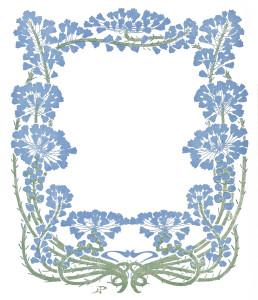 Vintage Art Nouveau Floral Frame