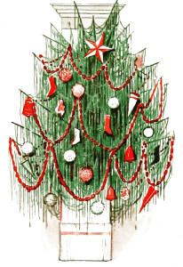 Vintage Christmas Clip Art Illustration