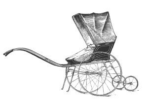 Vintage Clip Art Baby Carriage