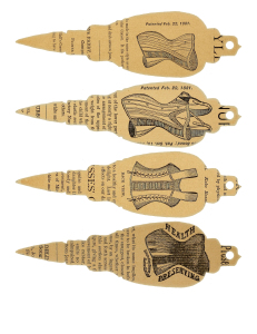 Vintage Printable Corset Paper Christmas Ornaments