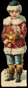 Vintage Victorian Christmas Die Cut Clip Art