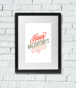 Free Valentine's Day Printable Wall Art Poster