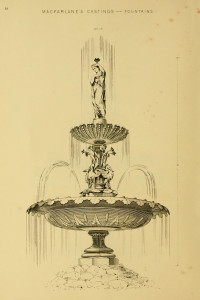 Vintage Fountain Illustration